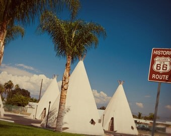 Route 66 Wigwam Motel - Roadside Wonders - Road Trip Inspired - Vintage Tee Pee Motel - Retro Home Decor - Fine Art Photography