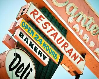 Canter's Delicatessen Vintage Los Angeles Neon Sign - Retro Kitchen Decor - Famous Los Angeles Restaurant - Fine Art Photography