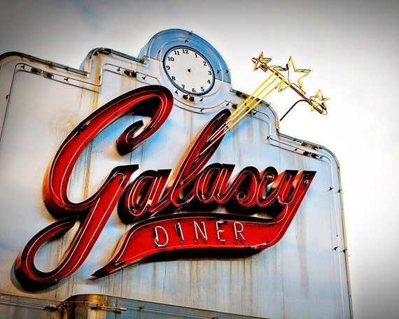 Route 66 Galaxy Diner Neon Sign Graphic Kitchen Decor