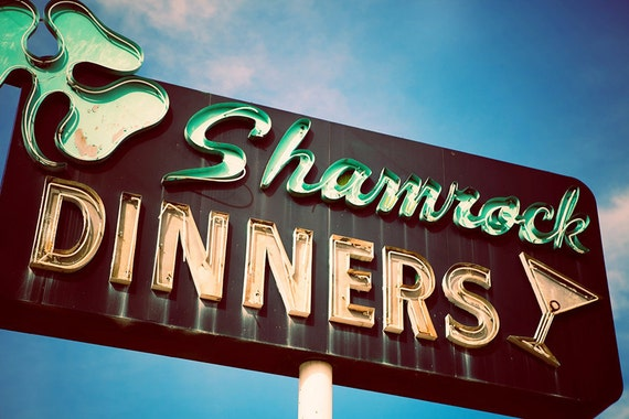 neon signs sign kitchen shamrock retro highway st patrick historic decor dinners custom etsy fine similar items maker saved