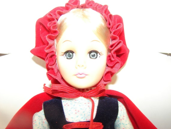 Vintage Red Riding Hood  Effanbee Doll with box and tag Mint