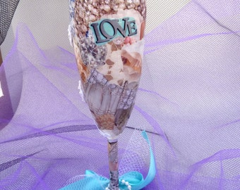 bridal champagne flute