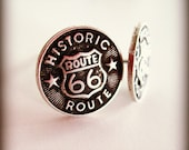 Silver Post Earrings - Route 66 - Summer Jewelry - Gift Under 15 - Historic