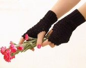 Crochet  mittens, victorian fingerless gloves, lace  arm wrist warmers