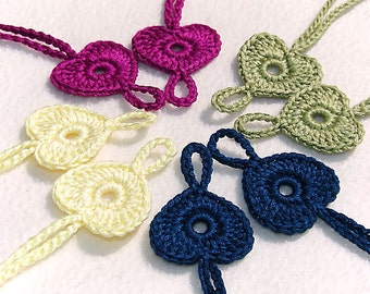 4 pairs Baby Heart Barefoot sandals, Baby shoes, Light Yellow, Hot Purple - Lilac, Midnight blue, Light Green Barefoot Sandals