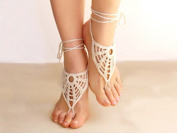 CUSTOM ODER for goldcake1000. Crochet  Barefoot Sandals, Nude shoes, Foot jewelry, Victorian Lace, Sexy, Lolita, Yoga, Anklet, Steampunk