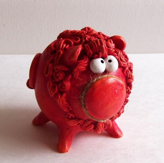 Lion Shaped Money Bank -- Personalized Handmade Piggy Bank