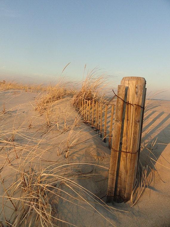 Beach Dune Fence - Fine Art Photography - Beach Art - Sandy Hook NJ - Nature
