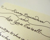 Pearl Written Wedding Invitation