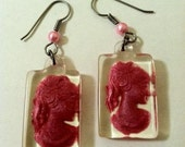Cameo Earrings Lady Of Summer