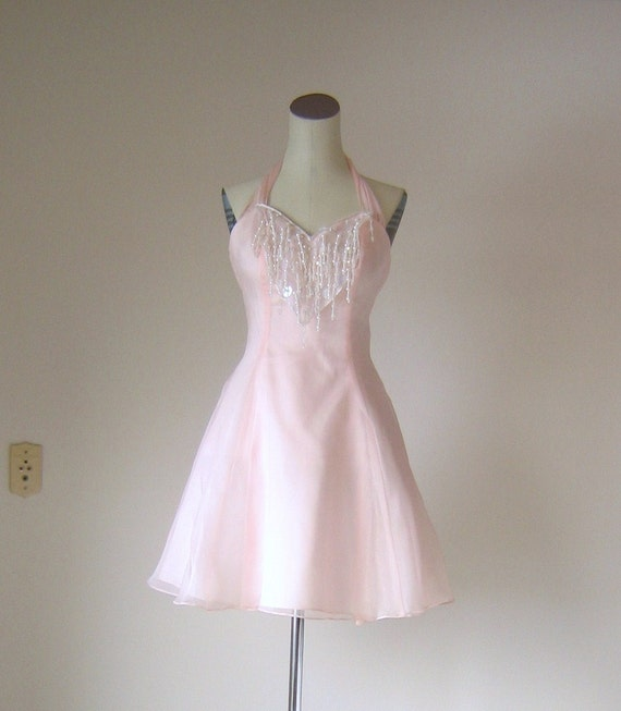 Pink Cotton Candy Party Halter Mini Dress Zum Zum