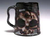 Father's Day.... Large Gothic Double Skull Tankard, Zombie Pirate Beer Mug 24 oz.
