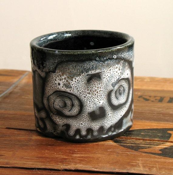 Skull Rocks Cup, Small Tea Bowl Tumbler 8 oz.