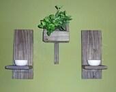 Reclaimed Wood Shelf - 3 Piece Set