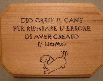 GOD Made Dogs Wall Plaque - Custom Wall Plaque, Custom Made For Breed, Custom Made Sign For Pet Lovers