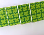Ceramic Tile Coasters- Set of 4- The Lucky One