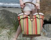 Beach Bag - Retro/Vintage-Inspired, Cabana Striped