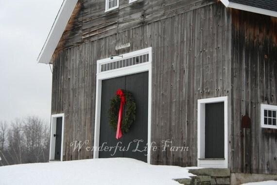 New England Christmas Cards - Set of 10 - Farmhouse Christmas/Farm/Barn
