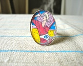 Jem and the Holograms Adjustable Silver Ring