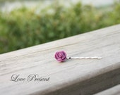 10% OFF Lovely Cute Purple Rose Bobby Pin (Custom made) - Special Love Sales