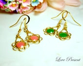 30% Special Sale - Vintage Hollywood Style Colorful Earrings - Choose your color