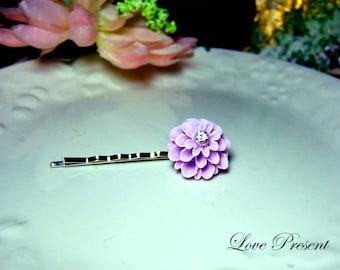 Grand Violet Pompon Daisy Bobby Pin (Custom made) - Special Love Sales