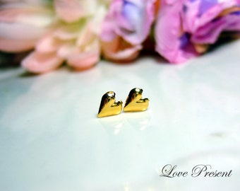 Cyber Monday - PIF - spread your love - Cute Mini Sweet Heart Stud earrings for bridesmaids