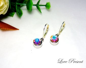 Bridesmaids  Gifts - Swarovski Crystal Classic Dangle & Chandelier BirthStone Earrings - Choose your color