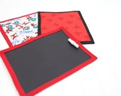 5 Birthday Party Favors Mini Chalkboard Mat for Boys or Girls to Match Any Party Theme