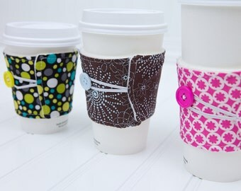 Coworker Gift Set Coffee Sleeve Cozy, Unisex Gift for Him or Her, Set of 5 Coffee Cozies