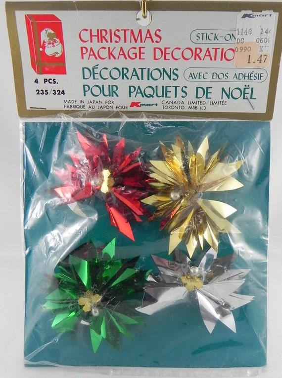 CIJ Christmas Scrapbook Altered Art Present decorations Bows vintage Unused
