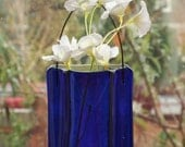 Fused Glass Pocket Vase - Cobalt Blue