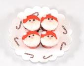 Miniature Santa Cupcakes