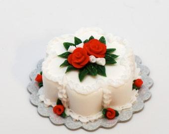 Christmas Flower Cake