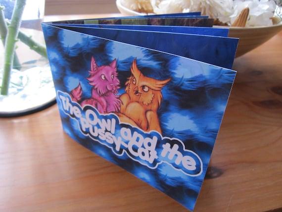 The Owl and the Pussycat Art Book - Children's Illustrations - Handmade Storybook - British Art Zine - Fairytale