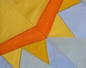 Sun Paper pieced PDF Pattern quilt block