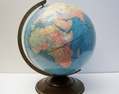 Sale - 1939 Globe- Pre WWII - Air Routes Existing and Possible - TREASURY PICK