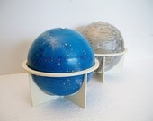 Vintage Globe Set - Moon and Celestial Globes - Moon and Stars - TREASURY PICK