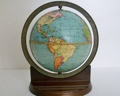 RESERVED for S Kochen - Vintage Globe 1926 Weber Costello Desk Globe - Rare Base