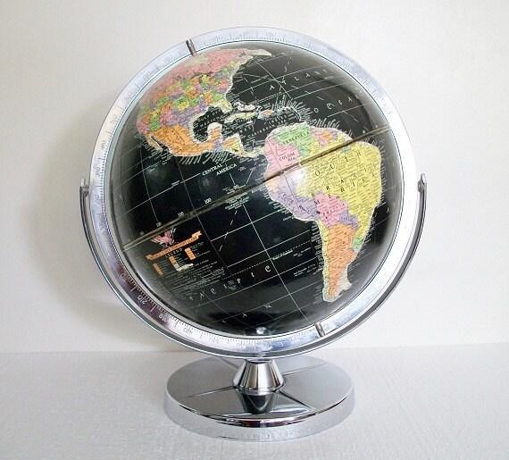 Vintage World Globe - Starlight 1961 - Cold War Eames Retro - Replogle - TREASURY PICK