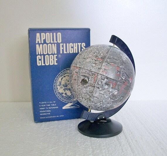 Vintage Apollo Moon Flights Globe -  New In Original Package