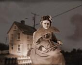 Sepia Surreal Victorian in Landscape and Skyscape Fine Art Print