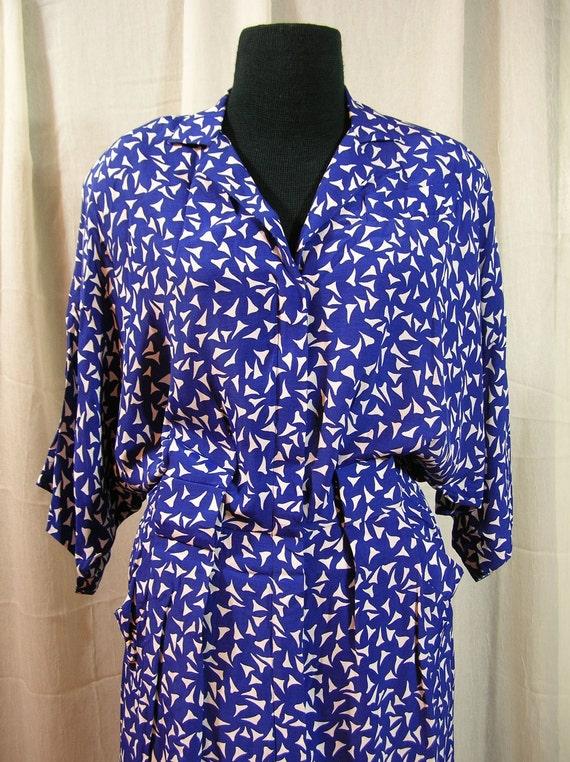 1980s Rayon Dress
