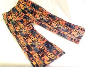 Pants - Orange and Gray Skull Pants for Girls & Boys - 2T 3T 4T 5T By AnkleBiterApparel
