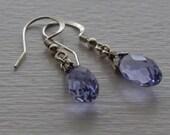 Swarovski provence lavender briolette earrings