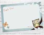 Little Owlie (boy) -- Thank You Note