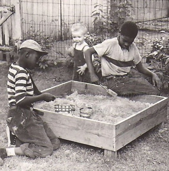 The Sand Box,   Vintage Photograph, Photo