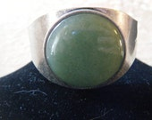 Handmade Vintage Jade Cuff Bracelet