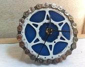 DESK BIKE CLOCK - reclaimed bike gear and chain