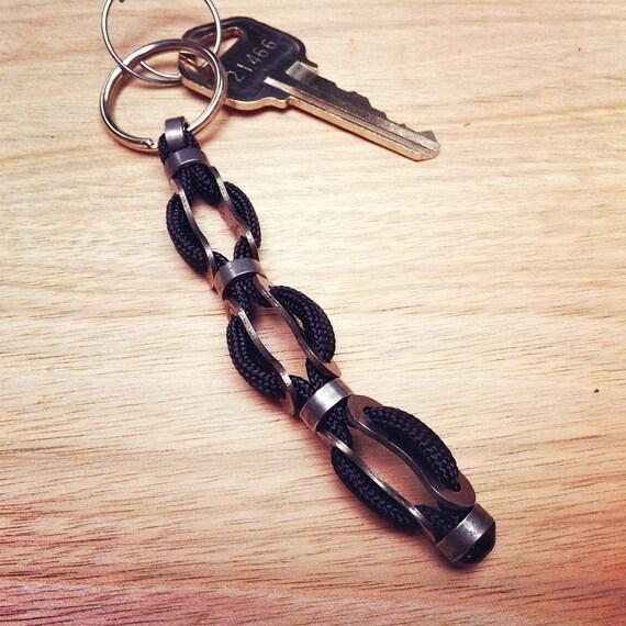 Reclaimed bike chain - key chain